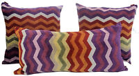 "MISSONI HOME PILLOW COVER CHEVRON COLLECTION PETE 159 TERRY COTTON 16x16"" 12x24"""