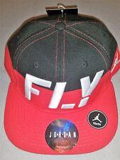 NIKE JORDAN FLY BLACK RED WHITE NEW KIDS SNAPBACK HAT CAP 9A1715 R78 YOUTH