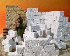 Krippenzubehör, Krippenbau, Ruinen Bausteine in neuem Format 150St.  3x1,5x1,5cm