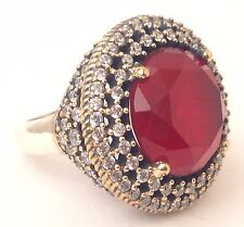 Turkish Handmade Hurrem Sultan 925 Sterling Silver Rings Size 7.5 US (Resizable)