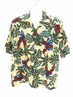 Hilo Hattie Short Sleeve Button Up Hawaiian Shirt Mens Large Regular Casual