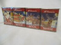 4 Vintage McSteven's Christmas Holiday Decoration Cocoa Tin's