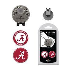 NCAA Alabama Crimson Tide Golf Cap Clip and 2 Ball Markers Enamel Team Logo Hat