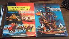 Lot de 2 livres : Histoire des explorateurs  - Mon premier tour du monde