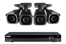 Lorex 4K Ultra HD IP 8 Ch NR9082X NVR System with 4 4K IP 8MP LNB8973BW Cameras
