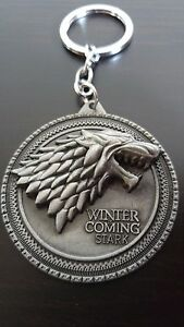 WINTER IS COMING STARK GAME OF THRONES KEY CHAIN KEY RING
