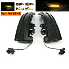 Pair Dynamic LED Side Mirror Turn Signal Lights For Benz A B C E CLA GLA CLS GLK