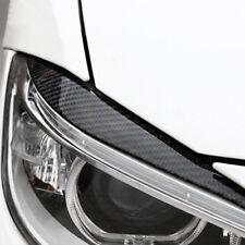 2x Real Carbon Fiber Headlight Eyebrow Cover Trim For 2013-2017 BMW 3 Series F30