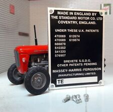 Standard Massey Harris Ferguson TE20 TEA20 TED20 TEF20 Tractor Commission Plate