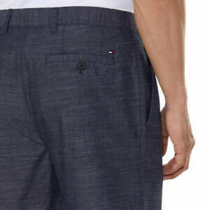 Mens Tommy Hilfiger Academy Classic Fit Flat Front Shorts 100% Cotton  42 NAVY