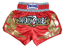 Twins Muay Thai shorts Red-Gold tattoo