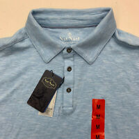 NEW Nat Nast Polo Shirt Mens Medium Blue Short Sleeve Casual
