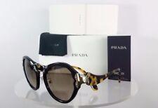 NEW AUTHENTIC PRADA SPR 09T 1AB-3D0 Black Gradient Acetate Butterfly Sunglasses