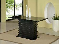 Kings Brand Furniture - Black Finish Wood Wave Design Dining Room Kitchen Table