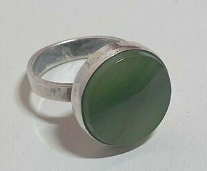 Design 925 Silber Ring mit Jade ?