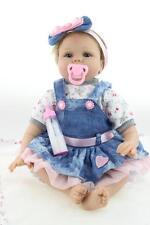 22'' Soft Silicone Reborn Baby Handmade Realistic Cute Newborn Toy Kids Bambole