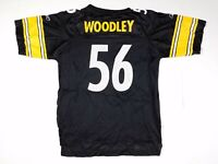 LaMarr Woodley #56 Pittsburgh Steelers NFL Football Jersey Kids Youth L 14-16
