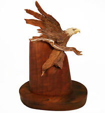 Silver Streak Original Rick Cain Eagle Wooden Sculpture 2014