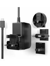 Raspberry Pi 4 USB-C Power Supply UK and Euro Plugs Black STONTRONICS 5,1V, 3A