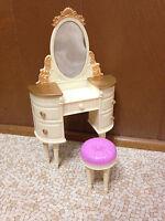 Bratz World Mansion Glam Yasmin Vanity Mirror Chair Bedroom House Furniture Rare
