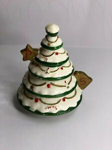 Shafford Christmas Tree Stackable Salt and Pepper Shaker Made in Japan