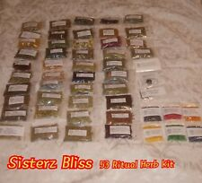 53 Herb/Resin Kit PAGAN, SANTERIA, WITCHCRAFT, WICCAN, OCCULT