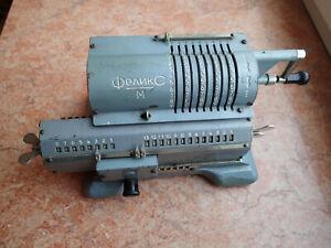 !!! USSR vintage Arithmometer mechanical calculator FELIX M for collection