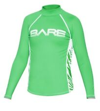 Bare Youth Green LONG Sleeve Sunguard Kids Rash Guard 50+ SPF UV Protection 8yrs