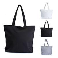 Fashion Women Canvas Shopper Handbag Shopping Summer Beach Shoulder Bag Tote