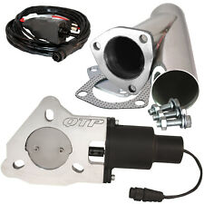 "QTP QTEC25CP 2.5"" Electric Exhaust Cutout 3-Bolt Flange With Stainless Y-Pipe"