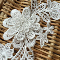 1Kit Flower Embroidery Motif Lace Applique Patch DIY Trimming Sewing Dress P8H2