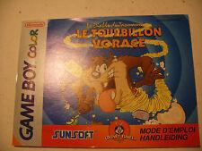 Retrogaming NINTENDO GBA Game Boy COLOR Notice TAZ manual France Nederland