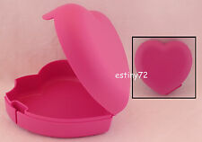 Tupperware Kids Forget Me Not Love Heart Jewellery Oyster Keeper Pink RARE