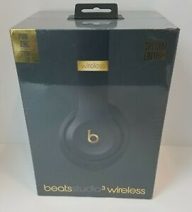 Beats Studio 3 WL Over-Ear Headphones Skyline Collection - Midnight Black  (New)