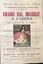 "FONTAN LEO THÉATRE NATIONAL DE L'OPÉRA ""GRAND BAL MASQUÉ A L'OPÉRA""  1926"