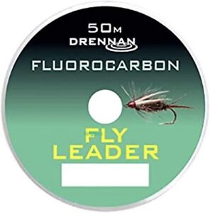 Drennan Fluorocarbon Fly Leader 50 metres All Sizes