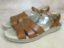 2f7027b3ac84 SAS Tripad Huarache Women s Sz 7 N Brown Leather Comfort Ankle Strap  Slingbacks