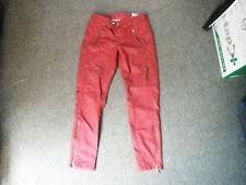 "Topshop Moto Skinny Jeans Size 8 Waist 26"" Leg 25"" Faded Dark Red Ladies Jeans"