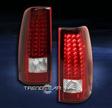 2003-2006 CHEVY SILVERADO/2004+ GMC SIERRA LED TAIL BRAKE REAR LIGHTS RED/CLEAR