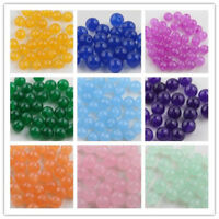 Wholesale 6/8/10mm Jade Gemstone Round Loose Spacer Beads Jewelry Making DIY