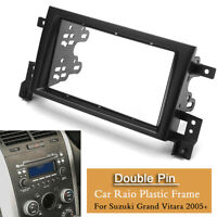 2 Din Car Stereo Radio Fascia Panel Plate Frame Kit For Suzuki Grand Vitara  -
