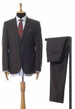 Mens HUGO BOSS Two Piece Suit Blazer Trousers Wool Striped Grey Size 44 54
