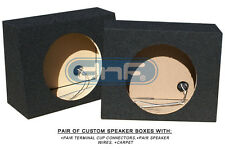 "1 PAIR 12"" MDF TRUCK ANGLE SEAL SPEAKER BOX (CARPET+TERMINAL CUPS+SPEAKER WIRE)"