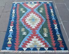 4 x 5 Feet OUSHAK RUG Hand-Made Vintage Turkish Kilim Rug Flat Weave Area Rug