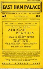 EAST HAM PALACE 1944 'VARIETY' BILLY COTTON & BAND PROGRAMME.