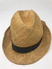 6ba753888f5ef Womens Anne Taylor Loft Straw Hat with Black Band Size Medium 7 1 8 Sun