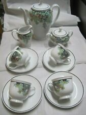 4 Personen Kaffee Service  Rosenthal Classic Rose  Aida Tropical Dusk