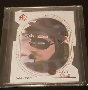 1999 SP Authentic Upper Deck Dale Earnhardt Sr Overdrive Rare 66/200 NASCAR Card