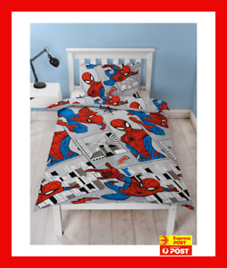 MARVEL SPIDERMAN reversible SINGLE  bed QUILT DOONA COVER SET NEW SPIDER MAN