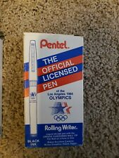 2 Vtg 1984 Los Angeles Olympics Pens R100W0 Rolling Writer Pentel USA New Box 12